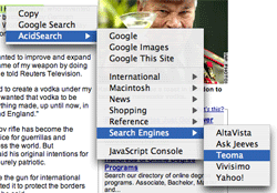 context menu screenshot